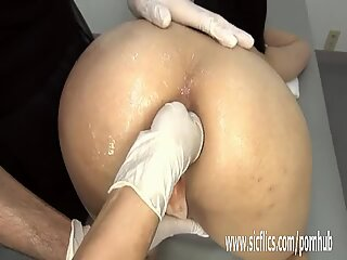 Anal fist fucking experiments at the clinic