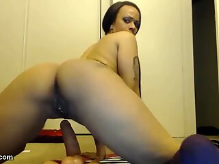 Hot Babe Squirting While Riding Dildo Continue on MyCuka com