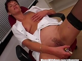 MILF Nurse Sexy Stockings Office Fucked Two Doctors