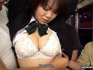School girl Yayoi Yoshino gets rammed in bus