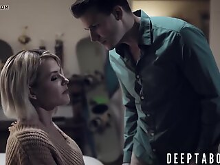 Stepmom Kit Mercer helps   son with his throbbing erection
