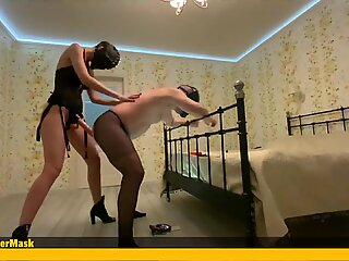 Pegging in Pantyhose with Multiple Orgasm. View 1