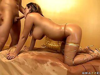 Big butt of Trina Michaels looks like shiny china bowl