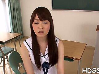 Rough sex for hot Asian schoolgirl