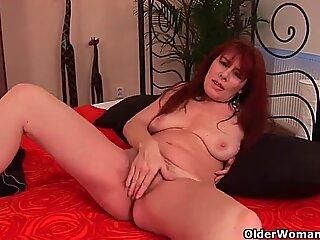 Sex starved granny fucks her toy boy