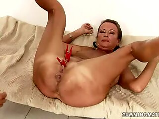 Granny in hard core ass fisting action, and enjoys it very much.