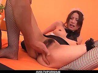 Tsubasa Aihara gets the master to fuck her hard on cam - More at 69avs com