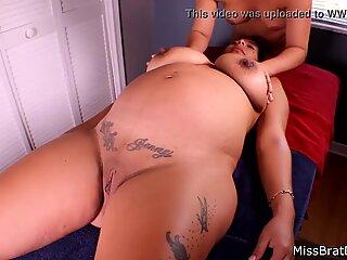 BP168-Jen Capone Lesbian Pregnant  Massage