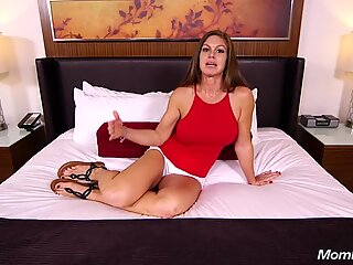 Fresh New cougar funbags black-haired MOM Does Anal and Strokes Out Hot Cum