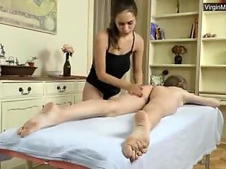 First time softcore lesbian massage