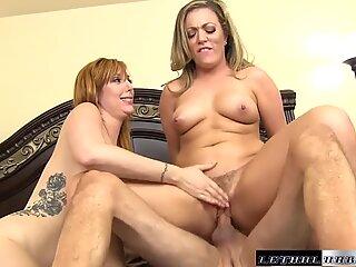 Pornstars Lauren and Carmen  bounce their ass