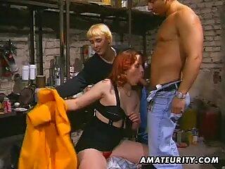Redhead amateur Milf sucks and fuck with facial cumshot
