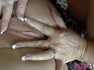 Chubby grandma finger bangs